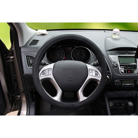 Combined With Ice Silk And Leather Materials Massiness Steering Wheel Covers