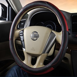 High Quality Black And Red Color Matched Steering Wheel Cover