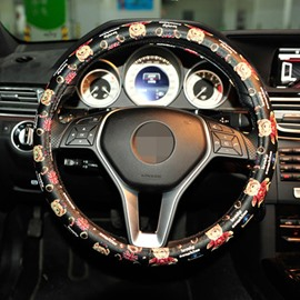Creative Printed And Classic Cute Bear Steering Wheel Cover
