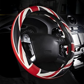 Classic Popular Union Jack Leather Material Steering Wheel Cover