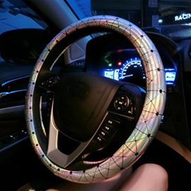 Colorful Solid Popular Fashionable Microfiber Leather Steering Wheel Cover