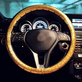 Fashion Design With Plating Microfiber Leather Material Steering Wheel Cover