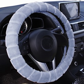 Comfortable Plush Material Winter Necessary Practical Warm Car Steering Wheel Cover