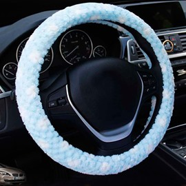 Cost-Effective Spotted Style Plush Material Warm Universal Car Steering Wheel Cover