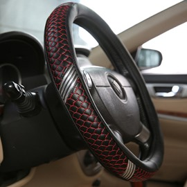Unique Fish Scales Surface Design Fantastic Cool Style Leather Car Steering Wheel Cover