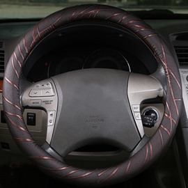 Gold Ribbon Decoration Eco-Friendly Material Fashional Car Steering Wheel Cover