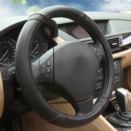Fashion Simple Contrast Color Style Design Cost -Effective Leather Car Steering Wheel Cover