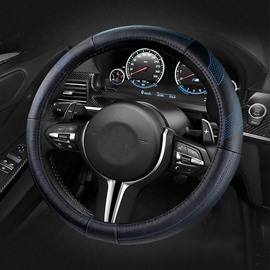 Strong Sport Visual Effect Medium Leather Car Steering Wheel Cover