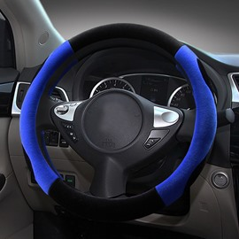 Fashion Contrast Color Sport Design Medium Car Steering Wheel Cover