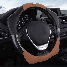 New Unique Design Natural Rubber Inner Ring With Leather External Material Universal Car Steering Wheel Cover