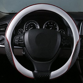 High-Grade Textured Durable PU Material Medium Car Steering Wheel Cover