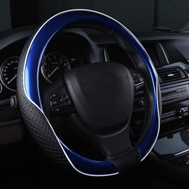 New Contrast Color Style Durable PU Material Medium Car Steering Wheel Cover