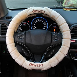 Unique Design High-Grade Soft Plush Material Medium Car Steering Wheel Cover