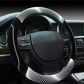 New Fashion Cool White 3D Effect Design Medium Car Steering Wheel Cover