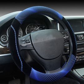 Super 3D Cool Visual Effect Mixing Material Medium Car Steering Wheel Cover