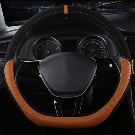 High Grade Luxury D Type Microfiber Leather Material Medium Car Steering Wheel Cover
