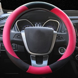 Creative Two Colors Matching Pattern Smooth Lovely Medium Steering Wheel Covers