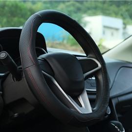 Elegant And Graceful Leather Material Medium Steering Wheel Cover