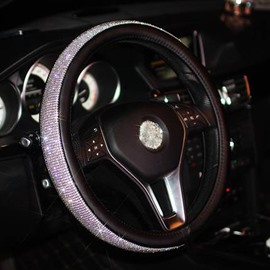 Girly Incomparable Luxurious Sparkling Top Quality Rhinestone Steering Wheel Cover