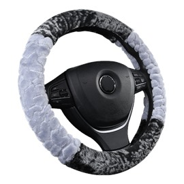Suede Material Fashionable Skin Care Soft Steering Wheel Cover