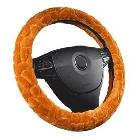 Suede Easy to Control Pure Color Steering Wheel Cover