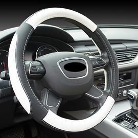 Plain Pattern PU Material Business Style Steering Wheel Cover Suitable for Most Round Steering Wheels