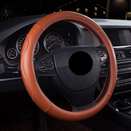 Steering Wheel Cover Anti-skid Wear-resistant Dirt-resistant Durable And Breathable Not Hurt Hands All Seasons PU Material Business Style Wheel Covers