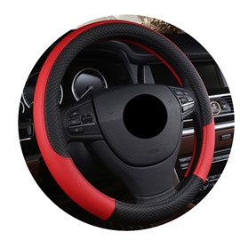 Leather Material All Seasons Business Style Steering Wheel Cover