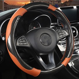 PU Leatherette Material Cool Style Car Steering Wheel Covers Suitable for Most Round Steering Wheels