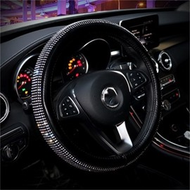 Creative Silver Set Auger Superior Quality Car Steering Wheel Cover