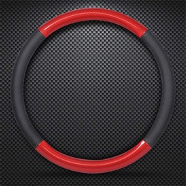 Simple Style Color Block Carbon Fibre Steering Wheel Cover