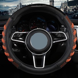Sport Style PVC Color Block Steering Wheel Cover