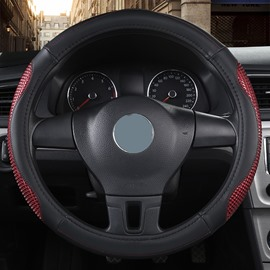 Sport Style Color Block PVC Steering Wheel Cover