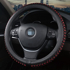 Simple Style Plain Pattern Ice Silk Steering Wheel Cover