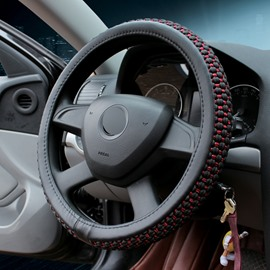Fashionable Style Solid-Colored Ice Silk Breathable Anti Slip No Smell Comfort Durability Safety Steering Wheel Cover