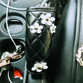 Practical Little White Daisy Design Lovely Hand Brake Cover