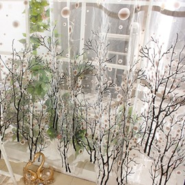 Vivid Tree Pattern Print 2-Pieces Custom Sheer Curtain