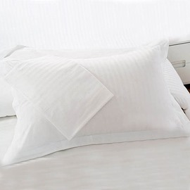 Cotton Sateen Solid Single White Pillowcase
