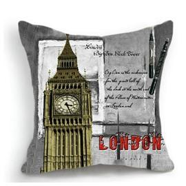 New Arrival Amazing English Big Ben Clock Tower 3D Print Throw Pillow
