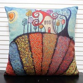 Lovely Fairy-tale Castle Print Throw Pillow Case