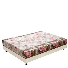 New Arrival Shiny Pink Roses Print 3D Fitted Sheet
