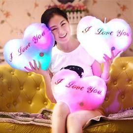 Fancy Lovely Heart Shape Flash Music Throw Pillow