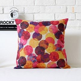 Fancy Colorful Polka Dot Pattern Pillowcase