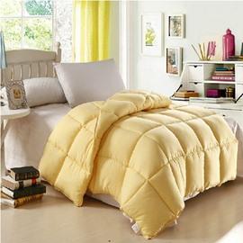 Quality Amazing Micro Fiber Yellow Comfortable Skincare Quilt