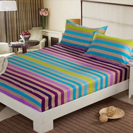 Fancy Adorable Colorful Stripe Pattern Fitted Sheet
