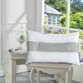 Quality Fancy Lavender Inside Full Cotton Bed Pillow