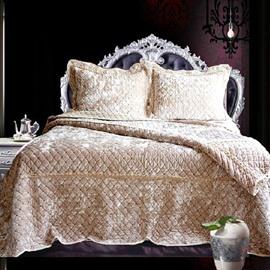 Fashion Diamond Shape Pleuche Bed in a Bag Set