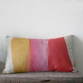 Amazing Gradient Watercolor Linen Bed Pillow