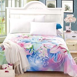 Newest Amazing Lily Print Full Cotton Sheet