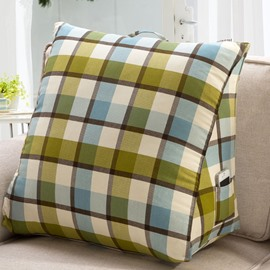 Comfortable Light Color Checks Pattern Throw Pillow